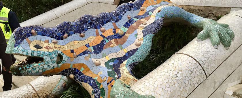 The stone lizard (seen at Parc Güell, Barcelona)