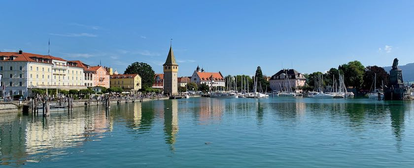 Port area of Lindau (Lake Constance, Germany)